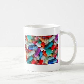 pills drugs coffee mug