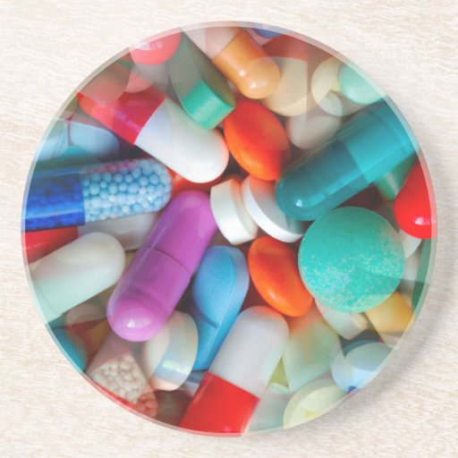 Pills Drugs Drink Coaster Zazzle