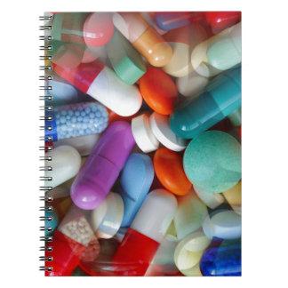 pills drugs spiral notebook