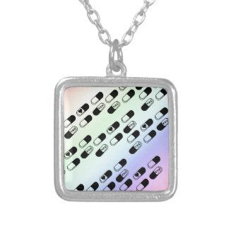 Pills on Pastel Rainbow Background Pendants