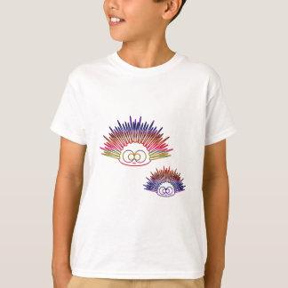 Pilluelos lindos del arco iris playera