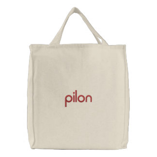 pilon strandtas embroidered tote bag