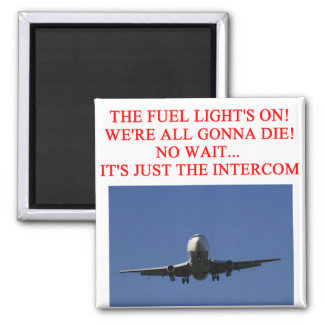 PILOT airline joke 2 Inch Square Magnet