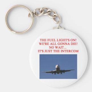 PILOT airline joke Basic Round Button Keychain