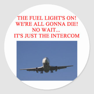 PILOT airline joke Classic Round Sticker