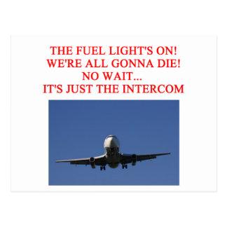 PILOT airline joke Postcards