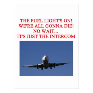 PILOT airline joke Postcard