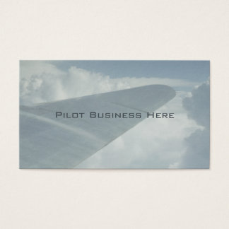 Pilot Airplane Plane Wing in Clouds Flying Above Business Card