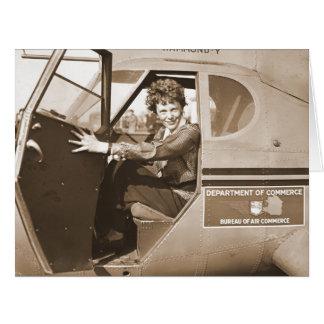 Pilot Amelia Earhart 1936 Large Greeting Card