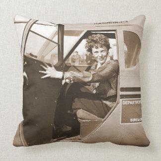 Pilot Amelia Earhart 1936 Pillow