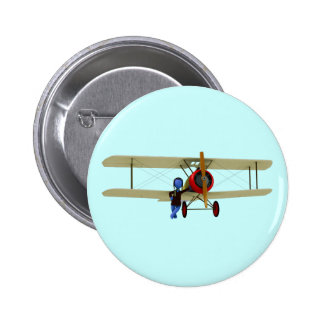 Pilot and Biplane Button