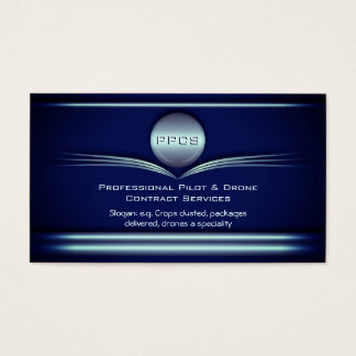 Pilot and Drone Service - Art Deco Metal Style Business Card