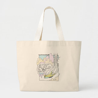 Pilot April Fools Cartoon Funny Gifts & Tees Large Tote Bag