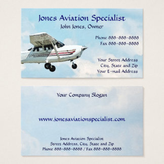 Pilot Aviation Single Engine Plane Business Card