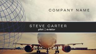 Aviation business cards zazzle pilot aviator plane driver mechanic aviation business card colourmoves