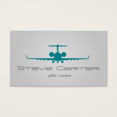 Pilot Aviator Stewardess Plane Sky Grey Fly Business Card at Zazzle