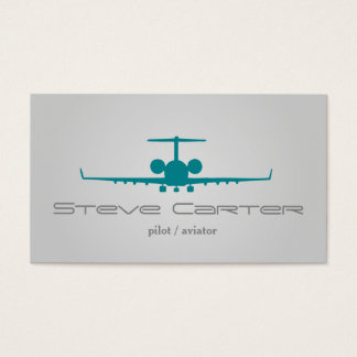 Pilot Aviator Stewardess Plane Sky Grey Fly Business Card