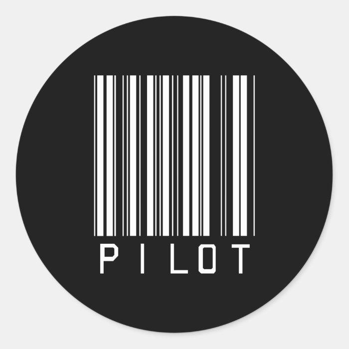 Pilot Bar Code Classic Round Sticker