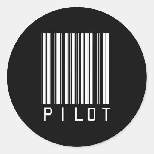 Pilot Bar Code Round Sticker