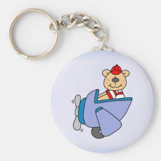 Pilot Bear Keychain