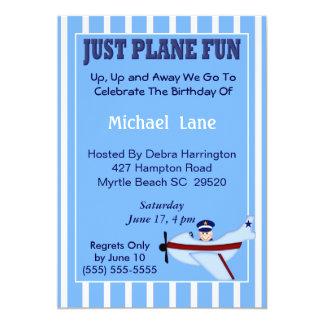 "Pilot  Birthday Invitation 5"" X 7"" Invitation Card"