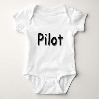 Pilot black baby bodysuit