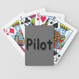 Pilot black bicycle playing cards