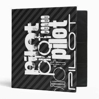 Pilot; Black & Dark Gray Stripes Vinyl Binder