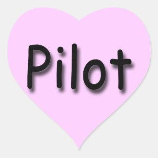 Pilot black heart sticker