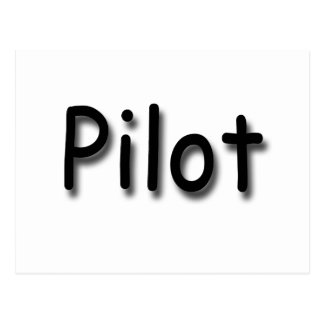 Pilot black postcard