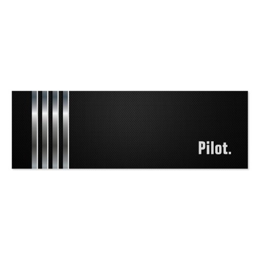 Pilot - Black Silver Stripes Business Card Templates