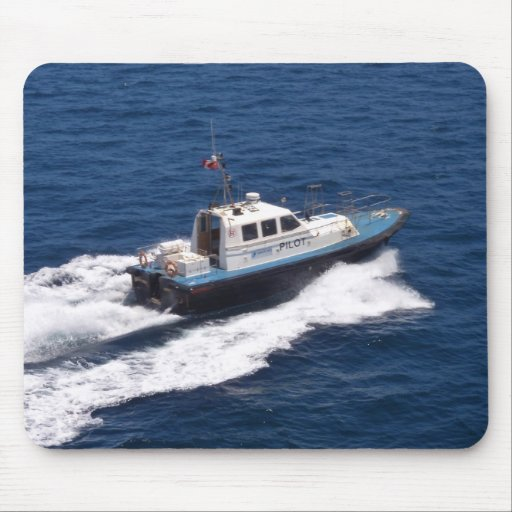 Pilot Boat At Speed Mousepads