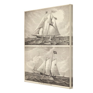 Pilot boats EG Knight and Whilldin Canvas Print