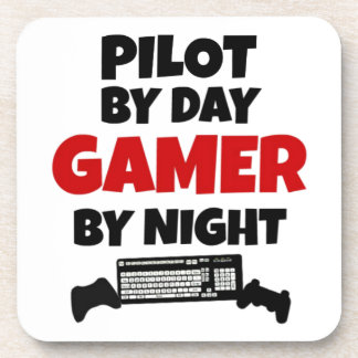 Pilot by Day Gamer by Night Beverage Coaster