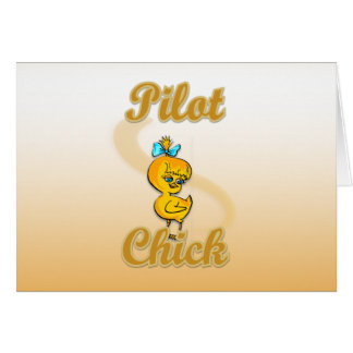 Pilot Chick Greeting Card