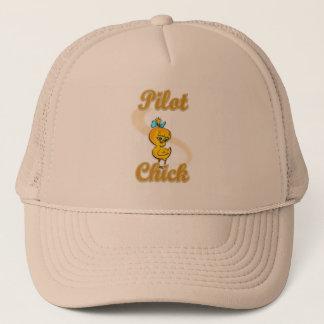 Pilot Chick.png Trucker Hat