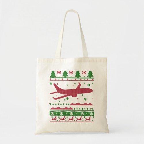 Pilot Christmas Tote Bag