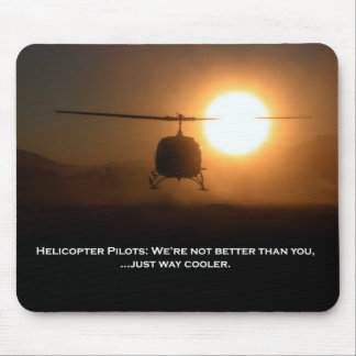 Pilot Cooler Helicopter Mouse Pads
