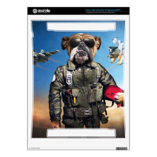 Pilot dog,funny bulldog,bulldog decals for xbox 360