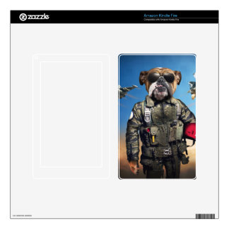 Pilot dog,funny bulldog,bulldog kindle fire skins