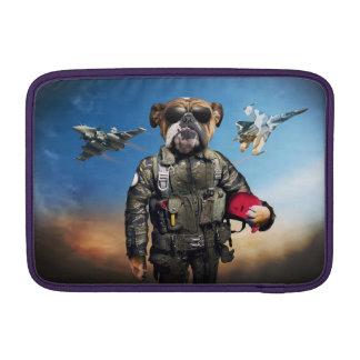 Pilot dog,funny bulldog,bulldog MacBook air sleeve