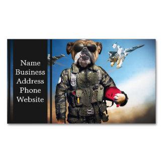 Pilot dog,funny bulldog,bulldog magnetic business card