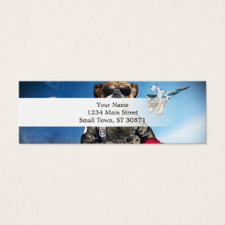 Pilot dog,funny bulldog,bulldog mini business card