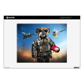 "Pilot dog,funny bulldog,bulldog skin for 12"" laptop"