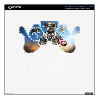 Pilot dog,funny bulldog,bulldog skin for PS3 controller