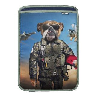 Pilot dog,funny bulldog,bulldog sleeve for MacBook air