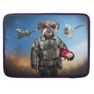 Pilot dog,funny bulldog,bulldog sleeve for MacBook pro