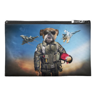 Pilot dog,funny bulldog,bulldog travel accessory bag