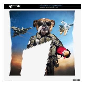 Pilot dog,funny bulldog,bulldog xbox 360 s decals