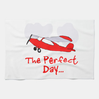 pilot flyling red airplane towels